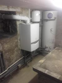 boiler in cellar with unvented cylinder