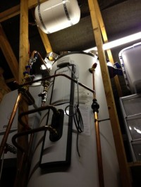 High tech unvented cylinder with ebus controls