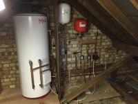 Unvented cylinder install in the loft