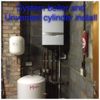 New system boiler and unvented cylinder