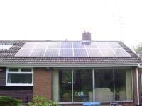 4 kWp of Sharp Solar Modules in Northumberland