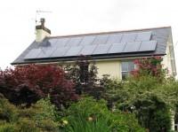 REC panels on a slate cottage