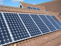1.9 kWp Solar installation, using 10x Upsolar 190m Mono Solar electricity panels installed in Wheldrake, York, UK.