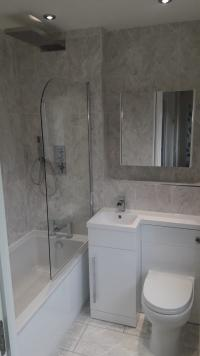 Bathroom installation inc. thermostatic shower