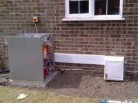During Oil Boiler Install Works for Client near Hailsham