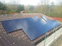 April 2013 4kw PV system mounted on a Bungalow