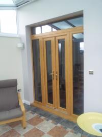 Irish Oak French Doors - Cardiff