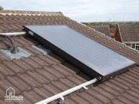 Solar Thermal Collectors During Installation