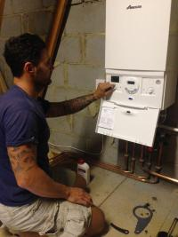Newly installed combi ( relocated from utility room to loft )