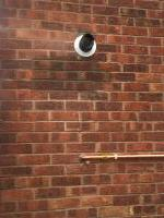Old balanced flue bricked up and new flue installed