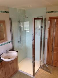 New shower enclosure & acrylic wet wall