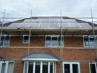 3.92 kWp Solar installation, using 16x Sharp NU-E245J5 Mono Solar electricity panels in Shirley, Solihull, UK.