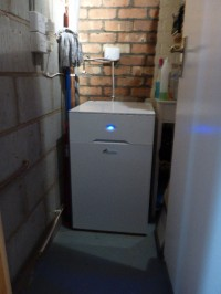Worcester Bosch oil fired combi installation.