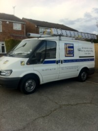 LF Heating boiler installation van covering Hertfordshire