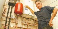 Gas boiler and unvented cylinder installation