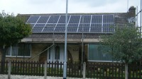 3.92 kWp Solar installation, using 16 x Sharp NU-R245J5 Solar electricity panels in Hucknall, Nottinghamshire, UK