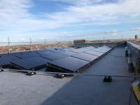 Commercial solar PV installation