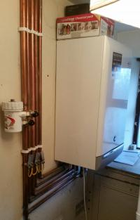 new baxi boiler install with filter