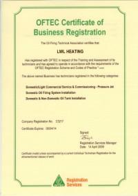 OFTEC Registred LWL Heating