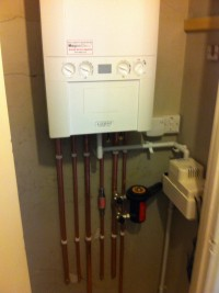 Ideal Logic Boiler installation