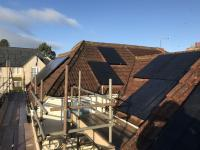 Multi angled PV array with different aspect roof