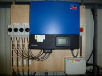 Example of installed inverter
