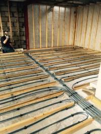 Underfloor heating and insulation in Stirling