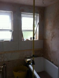 Bathroom installation in progress