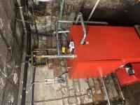 Commercial oil boiler install - G74
