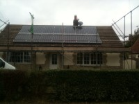 3.5 kWp Solar PV installation, using 14 x Hyundai HIS-S250MG Solar power panels in Harby, Leicestershire, UK