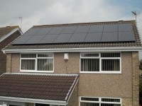 4 kWp of Romag 250w All Black Solar Modules in Gateshead, Tyne & Wear