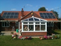 4 kWp Solar installation, using 16x Sharp 250 Mono Solar panels was installed in Askham, Lincolnshire, UK.