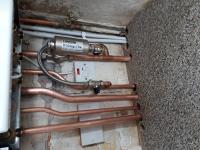 New pipework supplied to combi conversion