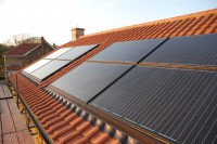 Combined Solar Thermal and Solar PV Array