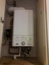 Conventional system coverted to combi boiler