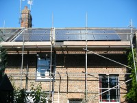 4.0 kWp Solar PV installation, using 16 x Sanyo HIT-H250E01 PV panels in Spalding, Lincolnshire, UK