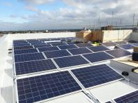 Flat roof mounted solar PV system
