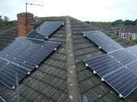 3.84 kWp Solar PV installation, using 16 x Sanyo HIT-N240SE10 PV panels in Ellesmere Port, Cheshire, UK