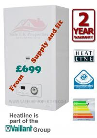 Combi boiler replacement from £699 supply and fit.