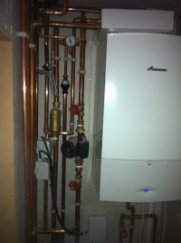Worcester 40 cdi boiler & associated pipework