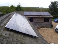 4 kWp of Sanyo Solar Modules in Hampshire