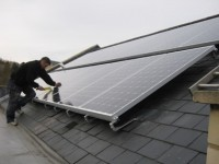 Solar panel installation in Sheffield