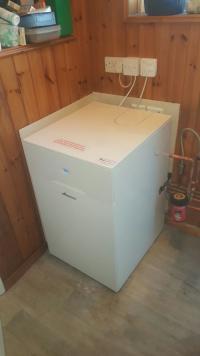 Oil combi boiler install