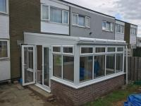 Large lean to conservatory