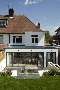 extension with bi folding doors