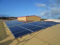 Commercial solar installation - Frylite