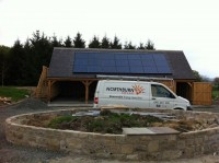 3.88Kwp in roof intergrated PV system Bywell, Northumberland
