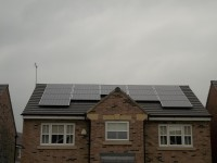4 kWp of Hyundai Solar Modules designed around a central peak