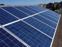 4.0 kw array, Poly crystalline silver framed panels Winterton,