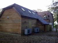 Air source hea pump installation Hampshire